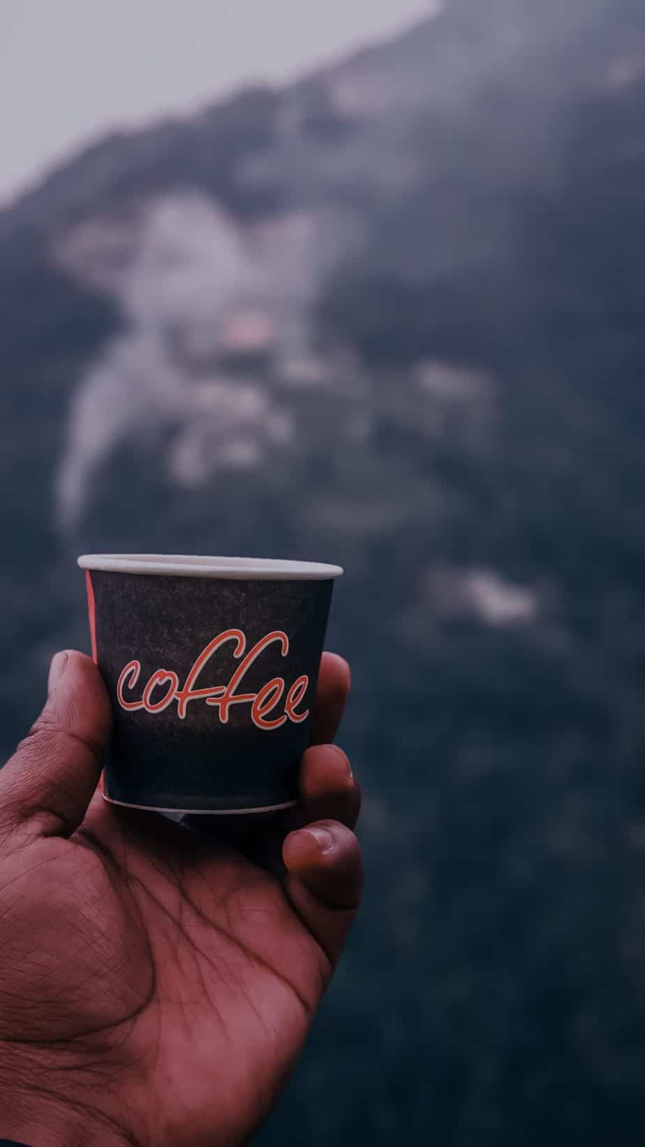 black Coffee disposable cup