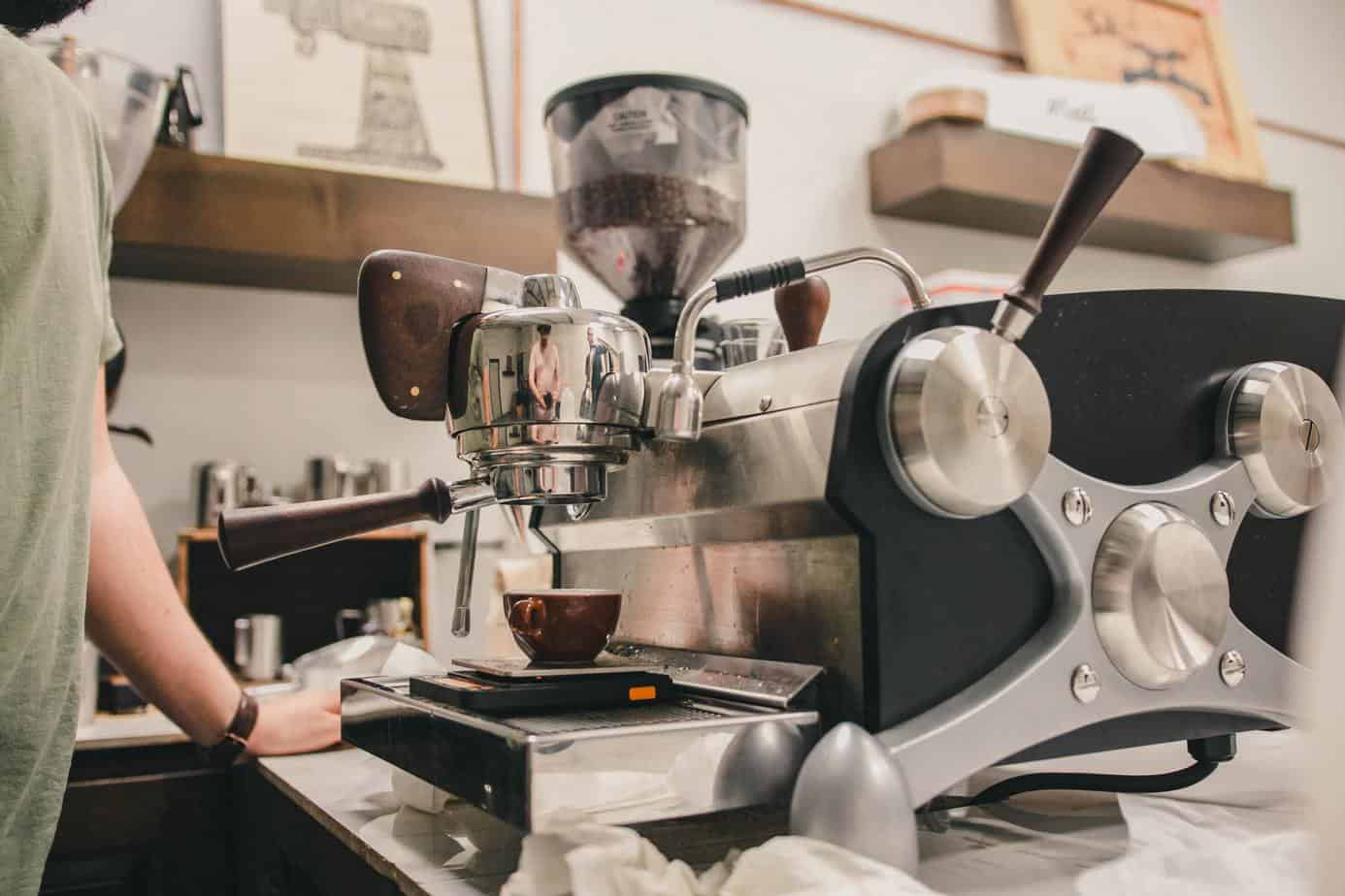commercial coffee machine | Photo by William Moreland on Unsplash